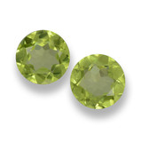 thumb image of 1ct Round Facet Lively Green Peridot (ID: 461808)
