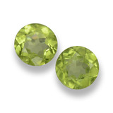 thumb image of 1ct Round Facet Lively Green Peridot (ID: 461809)