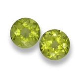 thumb image of 1.1ct Round Facet Lively Green Peridot (ID: 461811)