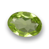 thumb image of 0.6ct Oval Facet Lively Green Peridot (ID: 461814)