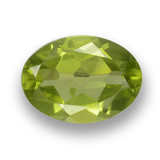 thumb image of 0.7ct Oval Facet Lively Green Peridot (ID: 461815)