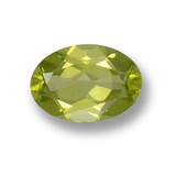 thumb image of 0.7ct Oval Facet Lively Green Peridot (ID: 461820)