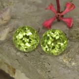 thumb image of 1.1ct Round Facet Lively Green Peridot (ID: 468022)