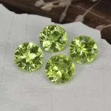thumb image of 1.7ct Round Facet Lively Green Peridot (ID: 468957)