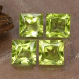 thumb image of 0.8ct Princess-Cut Lively Green Peridot (ID: 473762)