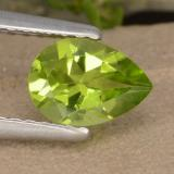 thumb image of 0.9ct Pear Facet Lively Green Peridot (ID: 477170)
