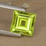 thumb image of 1.1ct Square Step-Cut Lively Green Peridot (ID: 477830)
