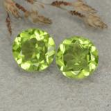 thumb image of 2.3ct Round Facet Lively Green Peridot (ID: 480452)