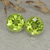 thumb image of 2.4ct Round Facet Lively Green Peridot (ID: 480455)