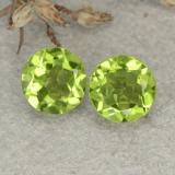 thumb image of 2.3ct Round Facet Lively Green Peridot (ID: 480459)