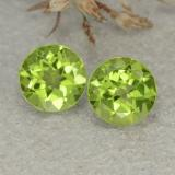 thumb image of 2.5ct Round Facet Lively Green Peridot (ID: 480460)