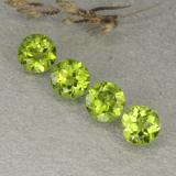 thumb image of 1.2ct Round Facet Lively Green Peridot (ID: 480498)