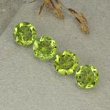 thumb image of 1.2ct Round Facet Medium Green Peridot (ID: 480504)