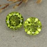 thumb image of 2.3ct Round Facet Lively Green Peridot (ID: 480562)