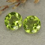 thumb image of 2.5ct Round Facet Lively Green Peridot (ID: 480563)