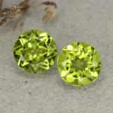 thumb image of 2.4ct Round Facet Lively Green Peridot (ID: 480564)