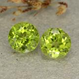 thumb image of 2.5ct Round Facet Lively Green Peridot (ID: 480565)