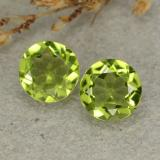 thumb image of 2.2ct Round Facet Lively Green Peridot (ID: 480566)