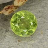 thumb image of 0.7ct Round Facet Lively Green Peridot (ID: 480947)