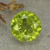 thumb image of 1.5ct Round Facet Lively Green Peridot (ID: 481005)