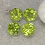 thumb image of 5.6ct Round Facet Lively Green Peridot (ID: 481091)