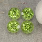 thumb image of 1.3ct Round Facet Lively Green Peridot (ID: 481096)