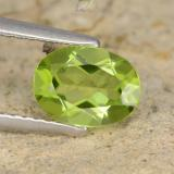 thumb image of 1.2ct Oval Facet Lively Green Peridot (ID: 481190)