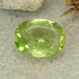 thumb image of 1.2ct Oval Facet Lively Green Peridot (ID: 484223)