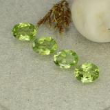 thumb image of 1.1ct Oval Facet Lively Green Peridot (ID: 484265)