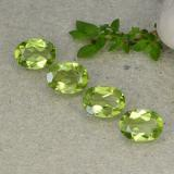 thumb image of 4.9ct Oval Facet Lively Green Peridot (ID: 484290)