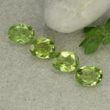 thumb image of 1.1ct Oval Facet Lively Green Peridot (ID: 484336)