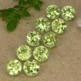 thumb image of 4.2ct Round Facet Lively Green Peridot (ID: 489375)