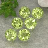 thumb image of 0.4ct Round Facet Light Green Peridot (ID: 489710)