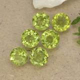 thumb image of 5.1ct Round Facet Lively Green Peridot (ID: 490606)