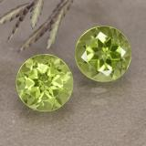 thumb image of 1.9ct Round Facet Lively Green Peridot (ID: 490920)