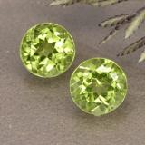 thumb image of 2ct Round Facet Lively Green Peridot (ID: 490925)