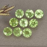 thumb image of 1.7ct Round Facet Lively Green Peridot (ID: 491029)