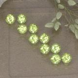 thumb image of 0.1ct Round Facet Light Green Peridot (ID: 498205)
