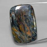thumb image of 38.9ct Cushion Cabochon Grayish Blue Pietersite (ID: 333821)