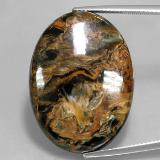thumb image of 32.9ct Oval Cabochon Multicolor Pietersite (ID: 346051)