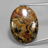 thumb image of 27.9ct Oval Cabochon Multicolor Pietersite (ID: 346060)