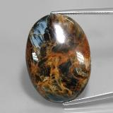 thumb image of 36.1ct Oval Cabochon Multicolor Pietersite (ID: 346061)