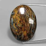thumb image of 29.8ct Oval Cabochon Multicolor Pietersite (ID: 346062)