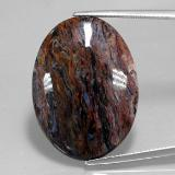 thumb image of 18.7ct Oval Cabochon Grayish Blue Pietersite (ID: 347562)