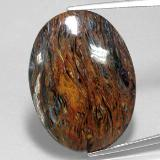 thumb image of 22.7ct Oval Cabochon Multicolor Pietersite (ID: 350672)
