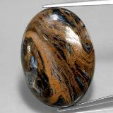 thumb image of 36.4ct Oval Cabochon Multicolor Pietersite (ID: 350677)