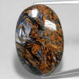 thumb image of 31.8ct Oval Cabochon Multicolor Pietersite (ID: 350681)
