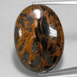 thumb image of 38.5ct Oval Cabochon Multicolor Pietersite (ID: 350682)