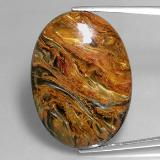 thumb image of 32.5ct Oval Cabochon Multicolor Pietersite (ID: 351523)