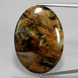 thumb image of 21.6ct Oval Cabochon Multicolor Pietersite (ID: 371375)